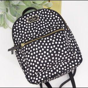 Kate spade Wilson Road musical dots Small Bradley black backpack